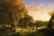 Thomas Cole Picnic oil painting picture wholesale